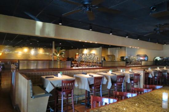 Bonefish Grill: Tables are used instead of booths in the bar area