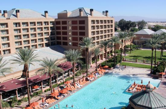 Renaissance Indian Wells Resort Spa View Of Pool Area From Our Room