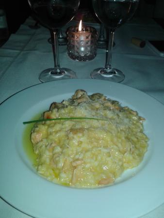 Nicanor: Risoto de salmão com queijo brie