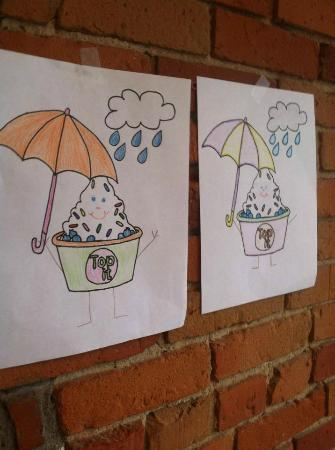 Top It Frozen Yogurt Bar Coloring Pages