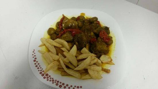 Benamahoma, Španělsko: carrillada iberica con patatas