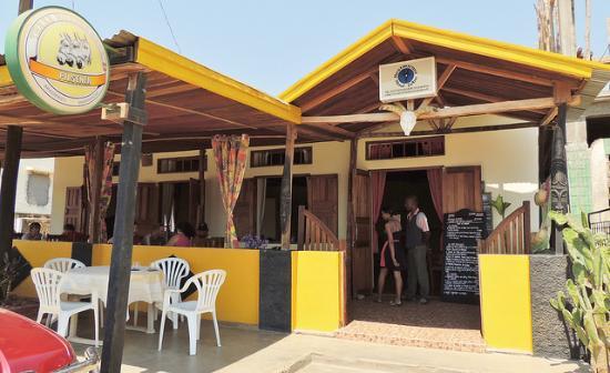 Front of Mad Zebu Restaurant