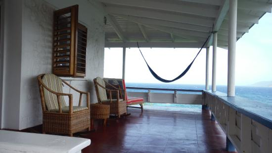 Noel Coward's Blue Harbour: upstairs verandah Villa Grande