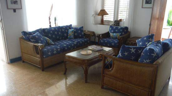Noel Coward's Blue Harbour: Villa Grande  living room