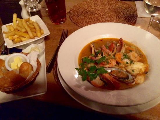 Milstead, UK: Home made bouillabaisse  - amazingly good!