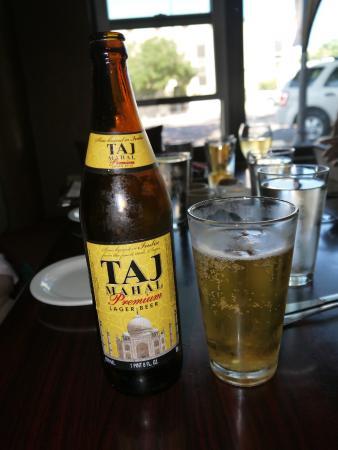 Taj Mahal Restaurant & Bar: Taj Beer too!