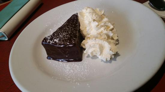 Savoy Cafe Restaurant : Flourless chocolate cake jum!