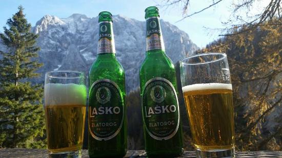 Triglav National Park: Beers on top of the Alps.