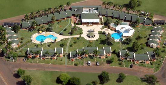 Termas del Arapey, Uruguay: Foto aérea del complejo