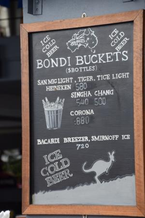 Bondi Aussie Bar & Grill Lamai: typical aussie look