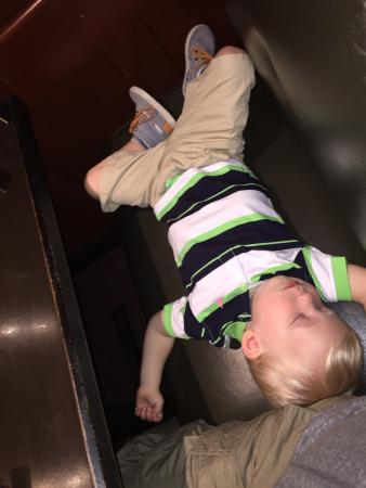 Ruby Tuesday: Our son sleeping his way through dinner