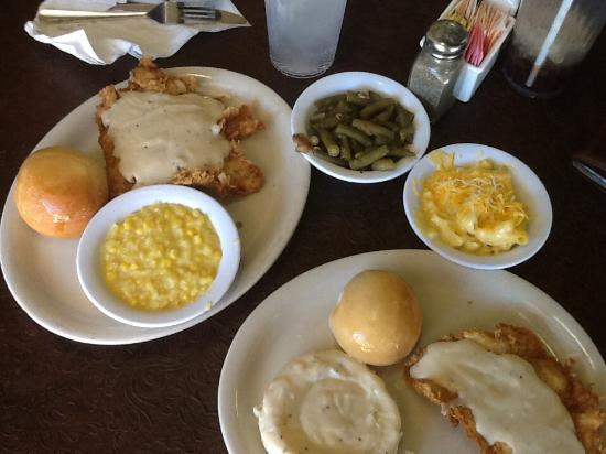 Cartwright's Ranch House: Our two orders and sides