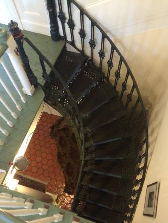 The Elms Bed and Breakfast: Fabulous staircase.