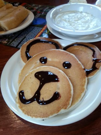 Flapjacks Pancake Cabin: may not taste the best, but I give them credit, very cute.
