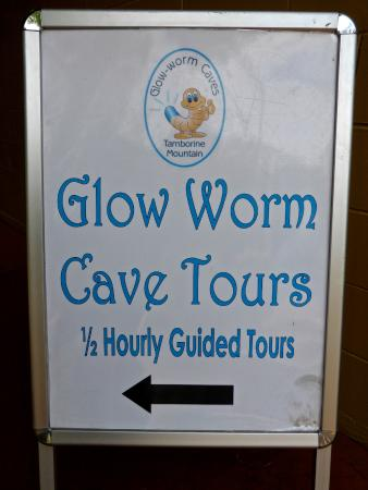 Glow Worm Caves: Sign