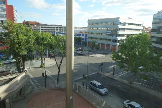ILUNION Alcalá Norte: View from our room onto the street