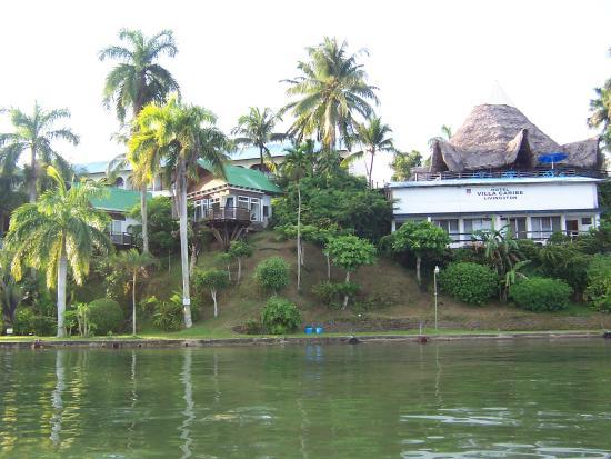 Hotel Villa Caribe from the Rio Dulce