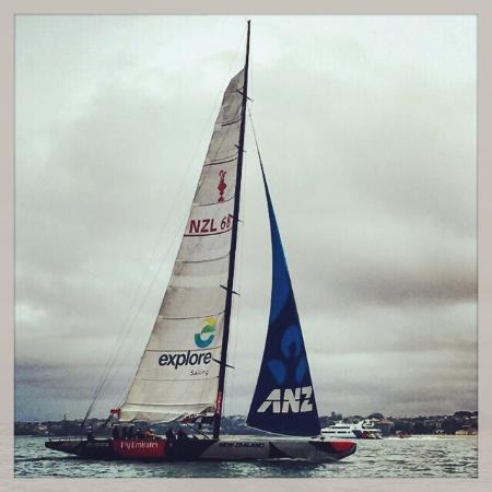 Explore - America's Cup Sail Auckland : Took this the day before we went out when we were on a fishing boat