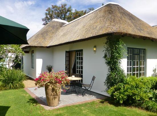 Van der Stel Manor : Suite mit Sitzplatz
