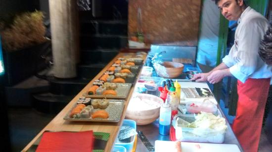 Edo Sushi: They chefs in action. Quite a big order