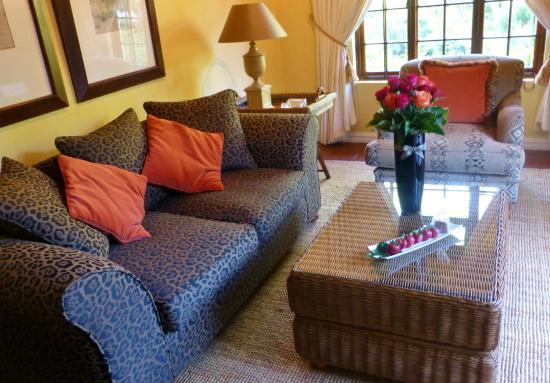 Van der Stel Manor : Wohnzimmer in Suite