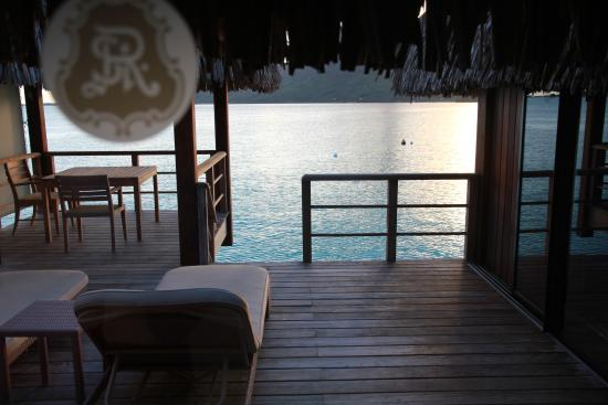 The St. Regis Bora Bora Resort: Balcony Photo room 101