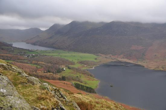 Bridge Hotel: View Of Buttermere and Crummock from rannerdale Knotts