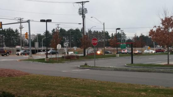 Holiday Inn Express Hotel And Suites Merrimack: across the street - note easy off rte 3