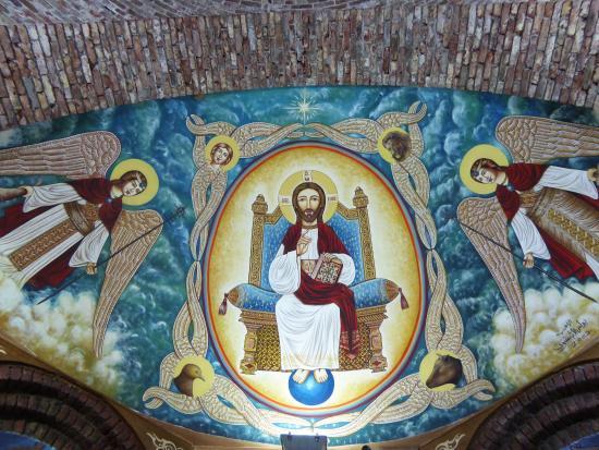 Deir Amba Bischoi: Chiesa di San Bischoi.. Dipinti!!