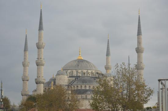 Erguvan Hotel: blue mosque from the hotel terrace