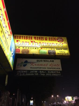 Martabak Manis Bangka Ajun San Francisco: Signboard
