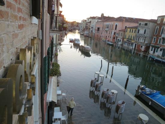 Hotel Ca' Dogaressa: Kade na vloed onder water