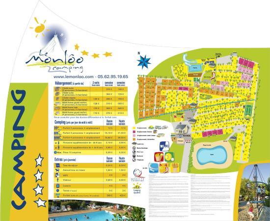 Bagneres-de-Bigorre, France: Plan du camping
