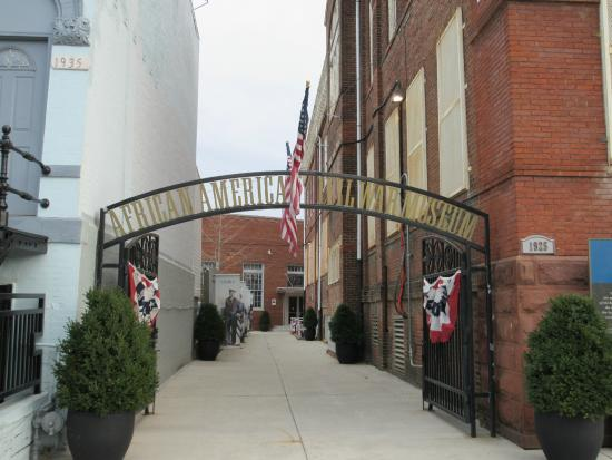 African American Civil War Memorial & Museum: The entrance to the museum