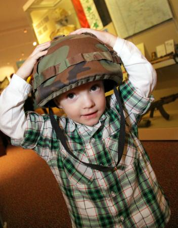 The Fusilier Museum: Dressing up in the museum