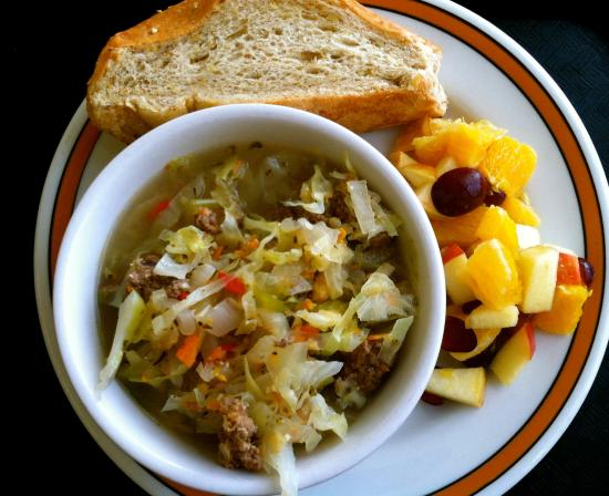 Lost River Market & Deli: They always have soups to eat there or to take with you.  There is always a vegetarian choice as