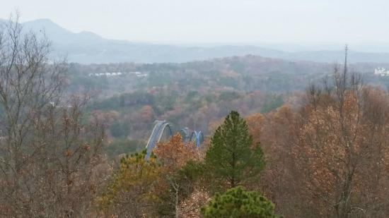 Starr Crest Resort : View From Deck - Dollywood Coaster In The View