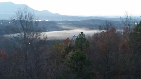 Starr Crest Resort : Fog Over Dollywood - Viewed From Deck