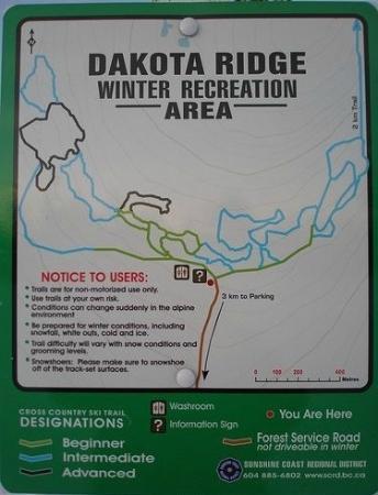 Large matrix of trails at Dakota Ridge