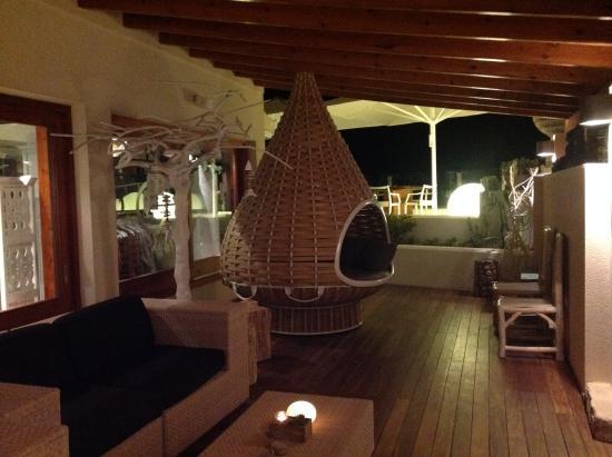 Hotel Tahiti: terraza exterior