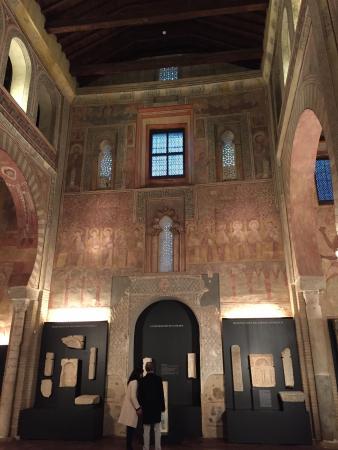 Museum of Visigothic Culture: Arches and mural around doorway