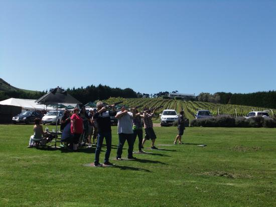 Isla Waiheke, Nueva Zelanda: Laser shooting