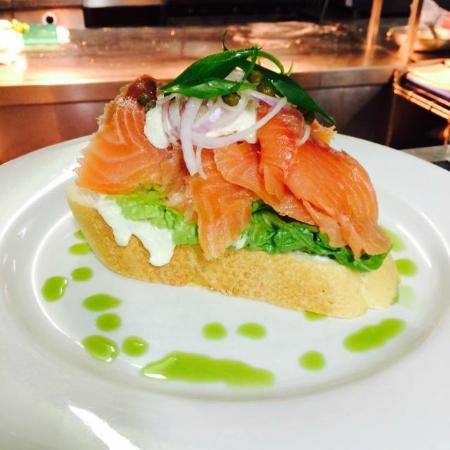 Pippies by the Bay: Salmon Stack  (Lunch menu)