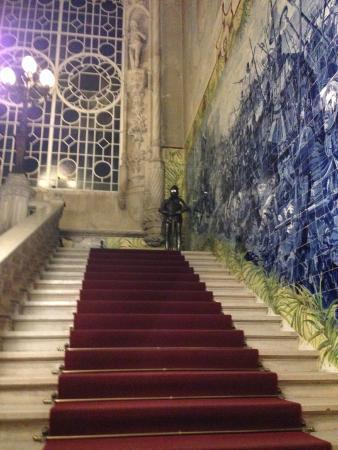 Palace of Bussaco : Escadaria do palácio