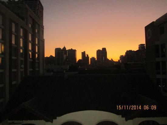 Atlanta Hotel: Morning view from D7