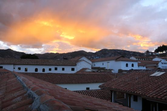 Andenes al Cielo: sunset from the rooftop terrace