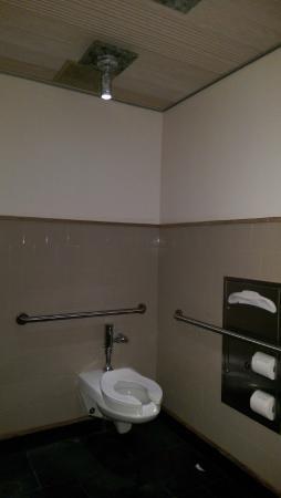 Bathroom Lighting Was Weird Water Damage On The Sink Walls Not - Unusual bathroom lights