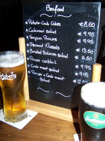 Guys Bar & Snug : menu