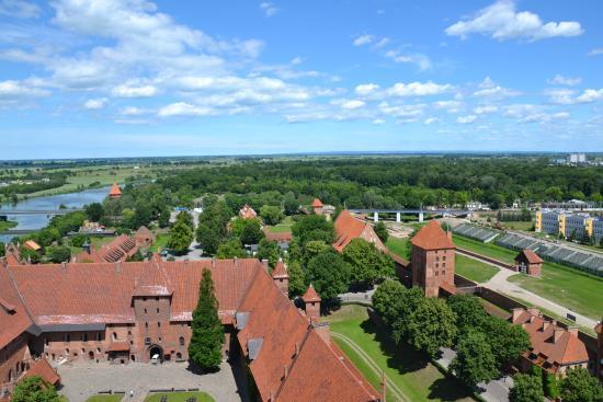 Malbork, Polen: Вид с башни
