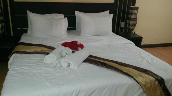 King Royal Garden Inn: The newly renovated room, less the soft toy